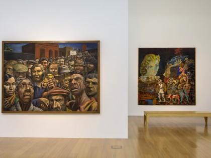 Verboamérica. Obras de Antonio Berni, Manifestación (1934) y la Gran Tentación (1962). PH_Pablo Jantus