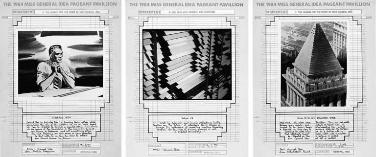 General idea ziggurats pabellones y showcards malba for Amazon persianas venecianas